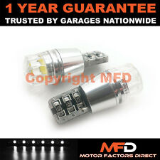 2X WHITE W5W 501 SIDELIGHT NUMBER PLATE INTERIOR REPEATER 2W LED BULBS CANBUS