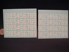 DECALS 1/18 CHIFFRES BLANCS ANCIENNES TYPOGRAPHIE  -  T370