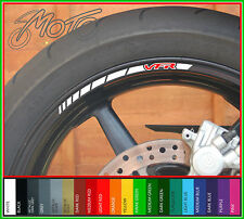 8 x HONDA VFR Wheel Rim Stickers Decals - 750f 800f 400 nc30 1200 nc24 vtec (B)