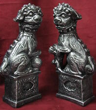 Foo Dog Chinese Art Bookends Pair Sculpture