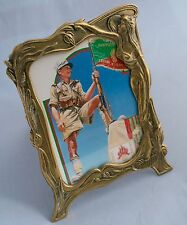 CORNICE Fotografica Vintage Art Nouveau in ottone