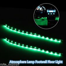 4Pcs Green Super Bright 15LED 30CM Car Motorcycle Grill Flexible Light Strip New