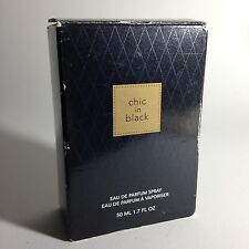 Avon Chic Black Eau De Parfum 50 ml Spray 1.7 oz Fragrance USA w Box Used Scent