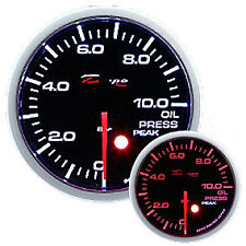 Manometro Strumento Depo Pressione Olio 0-10 BAR Nero Allarme Picco 52mm