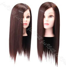 "90% Real Hair Hairdressing Hair school 22"" Professional Mannequin Heads"