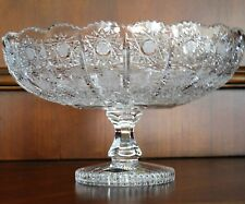 "Bohemia Crystal Pedestal Bowl, Queen-lace Hand-cut, 10"" Wide and 10"" Tall"