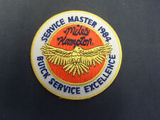 MILES HAMPTON BUICK 1984 SERVICE MASTER sew-on applique patch embroidered