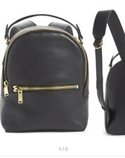 Sophie Hulme Mini Wilson Rucksack Black Leather Gold Hardware Backpack Ret 850