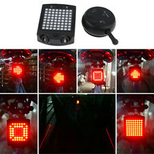 64 LED Wireless Remote Laser Bicycle Tail Light USB Rechargeable Warning Light