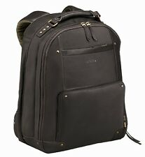 Brown Solo Executive Leather 15.6-inch Laptop Backpack