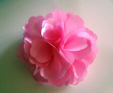 "Girls Women 3"" Silk Rose Flower ...Flower Hair Clip, Brooch, corsageSUGAR.PINK"
