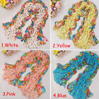 Style Colorful Super Long Girl Women Soft Crinkle Scarf Wrap Shawl Stole Scarves