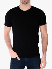 Men's Gem Rock Solid Black Crew Neck T-Shirt Size 6X-Large Brand New!