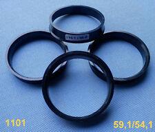 (1101) 4x Zentrierringe 59,1 / 54,1 mm schwarz für Alufelgen