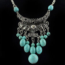 Necklace Turquoise Hippie Ethnic Boho Tribal Belly Dance Bohemian Gypsy Turkish