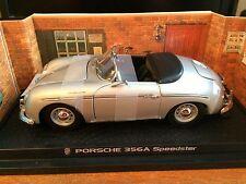 Kyosho 1/18 Scale Porsche 356/1600 Speedster - No.08011S - Silver
