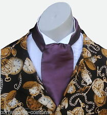 Aubergine  CRAVAT  Victorian / Edwardian / Georgian  / costume / fancy dress