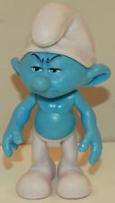 "2011 Grouchy Smurf 2.75"" Jakks Pacific PVC Plastic Action Figure Movie Smurfs"