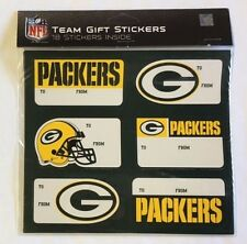 Green Bay Packers Christmas Present Name Labels - Team Gift Stickers - To/From