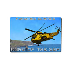 Personalised Sea king Metal Wall Art / Image - Search & Rescue / Nautical Theme