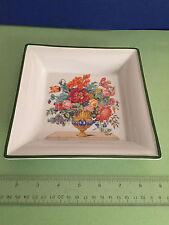 RARE: Porcelaine de Paris Jardin a la Francaise Roubinet large square plate MINT