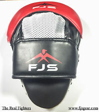 FJS Focus Pads & Mitts Hook & Jab MMA Punch Bag Kick Boxing Muay Thai Red Pair
