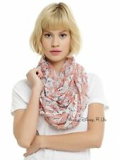 New Disney The Aristocats Marie Fringe Lightweight Sheer Infinity Neck Scarf
