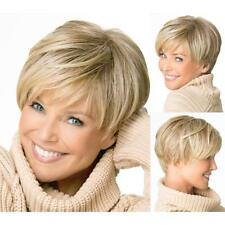 Lady's boy cut Short pixie wigs for women Straight style Synthetic Blonde Wigs #