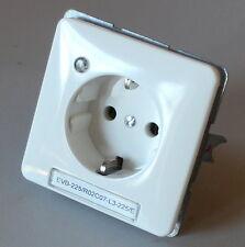 Steckdose Einsatz JUNG 921-314 mit Blende mit Kontroll Leuchte weiß Schuko