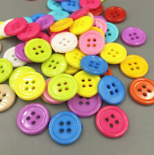 50P 4 Holes Round Resin Buttons Sewing Mixed color Scrapbooking Craft 20mm/0.8in