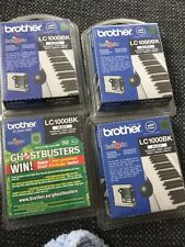 BROTHER LC1000BK BLACK INK CARTRIDGE X 4