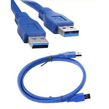 3FT/1M USB 3.0 Type A Male to Type A Male Extension Data Sync Cord Cable Blue AV