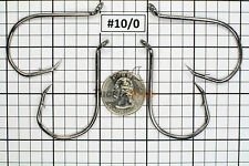 100 #10/0 Offset Octopus Circle Fishing Hooks 2X Strong Chemically Sharpened USA