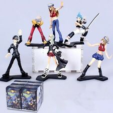 Soul Eater Maka BlackStar Kid Lizu Figure 10-15cm New with Box 6pcs Set