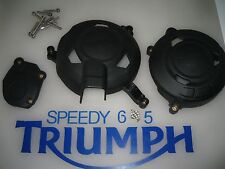 TRIUMPH DAYTONA 675 R ENGINE COVER PROTECTION SET A9618132 2013 2014 2015 2016