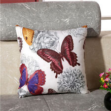 45x45cm New Home Office Car Cushion Decor Butterfly Printed Pillow Case Cover