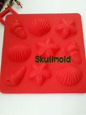 Cake Mold Soap Mold Starfish Conch Flexible Silicone Mould For Candy Chocolate