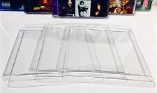 10 Clear Protectors For SINGLE DISC CD's     Music Soundtracks Albums Cases Box