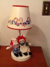 Vintage Raggedy Ann And Andy Lamp Nursery 1990s W/ Shade *Read Desc*