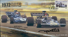1972 JPS LOTUS 72D, TYRELL 003 BRANDS HATCH F1 cover signed REINE WISELL
