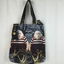 New Alice in Wonderland Tweedledee and Tweedledum Loop NYC Tote Bag Purse Disney