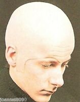 DELUXE EXTRA THICK BALD HEAD SKULL WIG CAP UNCLE FESTER FANCY DRESS COSTUME HAT