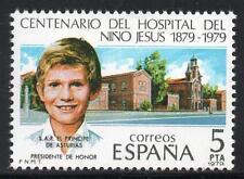 España estampillada sin montar o nunca montada 1979 SG2596 100th aniversario del Hospital Niño Jesus