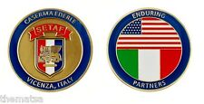 """ARMY CASERMA EDERLE VICENZA ITALY SETAF MILITARY BASE 1.75"""" CHALLENGE COIN"""