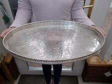 LARGE SILVER PLATED VINERS TRAY VERY ORNATE GALLERY IN GOOD CONDITION