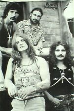 """BLACK SABBATH """"BLACK & WHITE GROUP SHOT"""" POSTER FROM ASIA - Heavy Metal Music"""