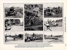 Costruzione di strade macchine. scarse stampa circa 1930s