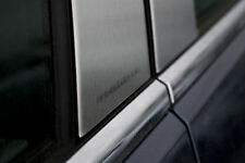 For: CHEVY MALIBU; Pillar Post Moldings Engraved BRUSHED S.S. 2013-2017