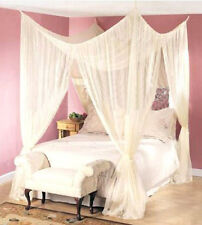 DREAMMA 4 POST BED CANOPY FOUR CORNER MOSQUITO BUG NET QUEEN KING SIZE INSECT