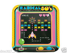 8 RADICAL 1980s 80s ARCADE Video Game Space Invaders PAPER Party DINNER PLATES